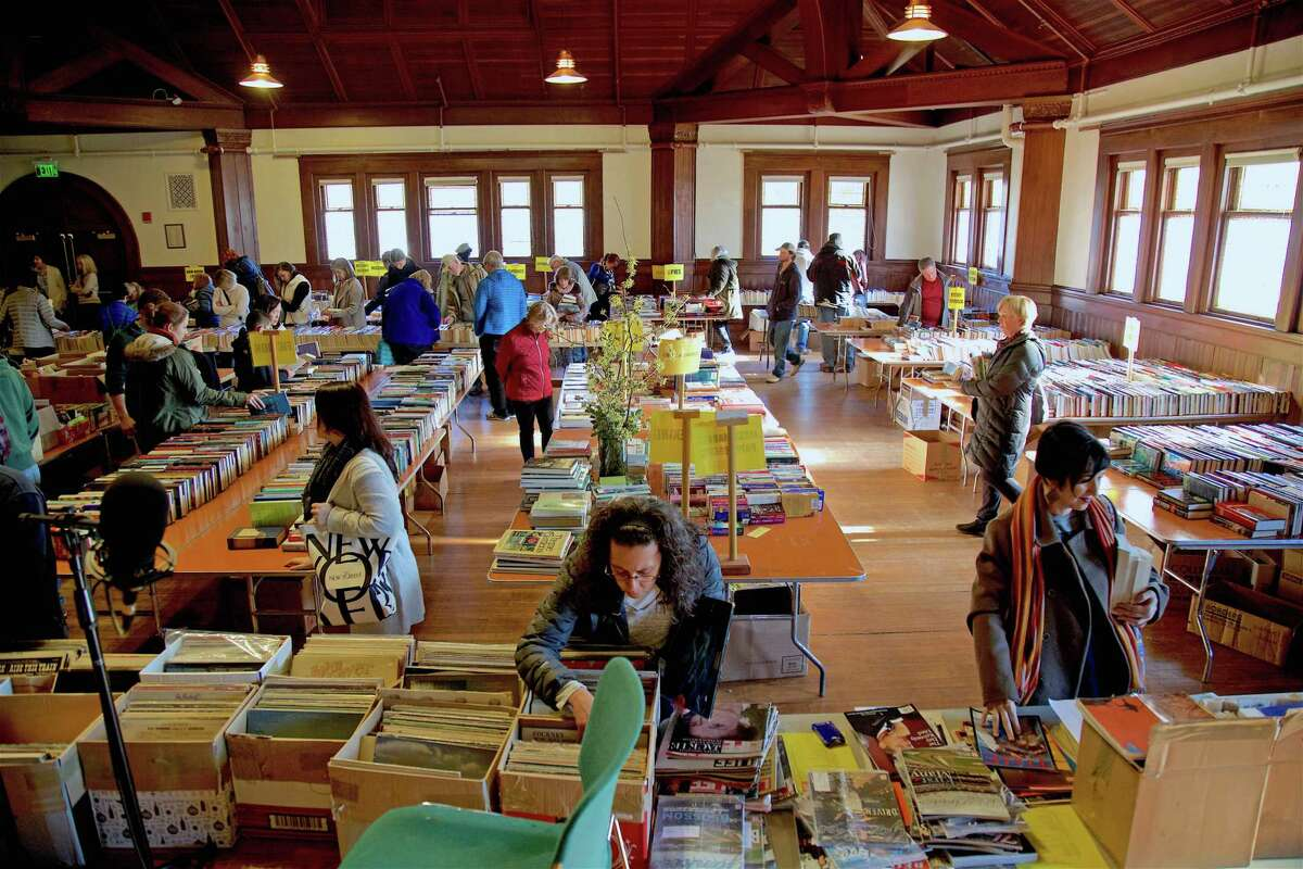 There were thousands of books to choose from at the Pequot Library's annual Mid-Winter Book Sale on Saturday, Feb. 16, 2019, in Fairfield, Conn.