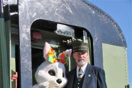The Easter Bunny will visit the Danbury Railway Museum April 13 and 14 and visitors can take a ride in a vintage train through the historic railyard to meet him.