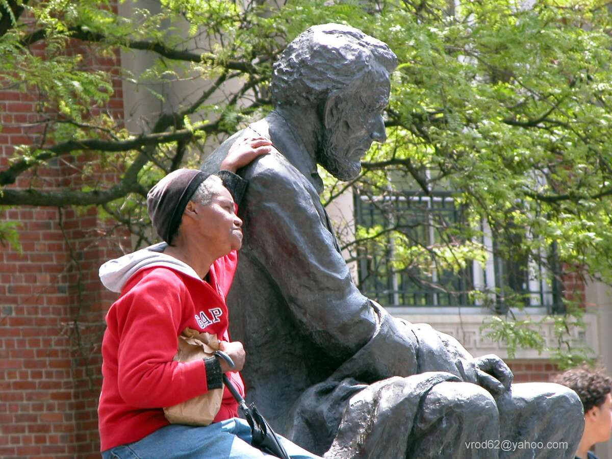 """Vincent Rodriguez, a local photographer, took this photo which he entitles """"Thinkin' With Lincoln"""". It will hang in the Danbury City Center for President's Day/Black History Month."""