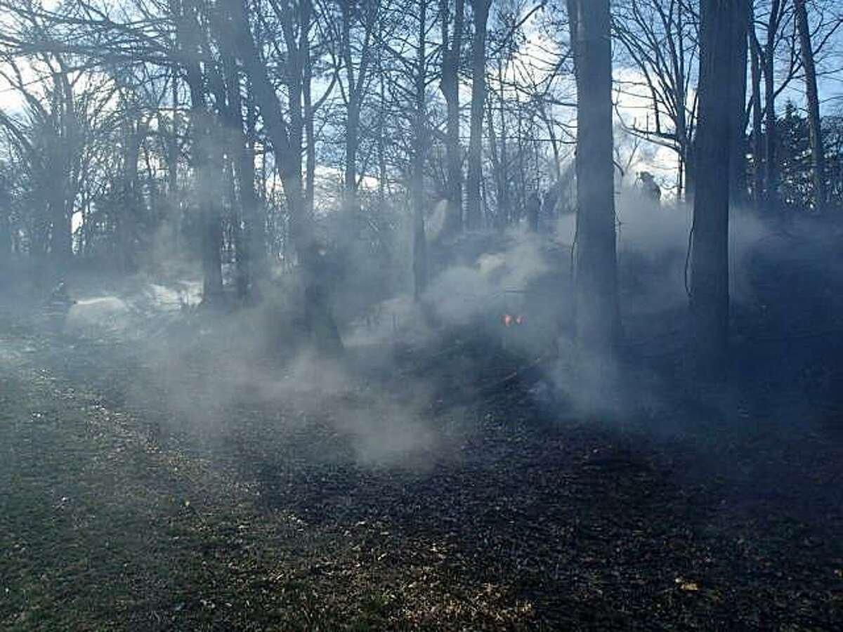 One of the first brush fires of the season happened on Saturday, March 4, 2017 when a section of woods off the Merritt Parkway caught fire near the Norwalk/Westport town line. Both Norwalk and Westport firefighters responded to the fire that was located near southbound Exits 41 and 40. When they arrived they found an appoximate 300 x 10-foot area burning in the area of the West Rocks overpass. The fire marked the start of the spring forest fire season in Connecticut.