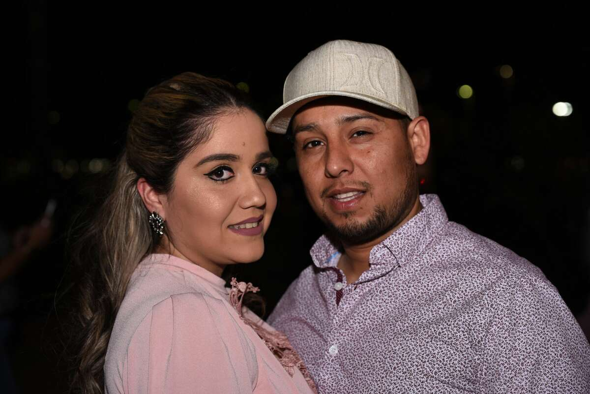 Attendees pose for a photo during the Banda MS concert.
