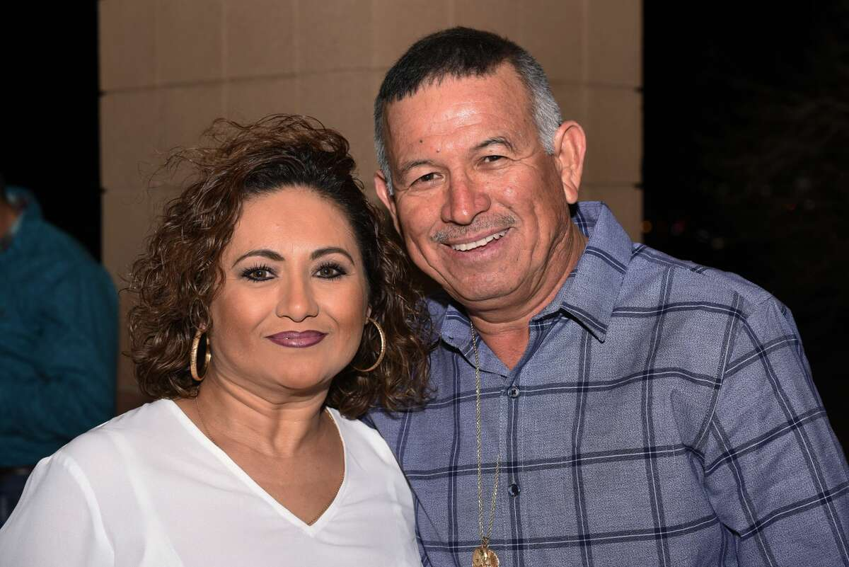 Alma and Jesus Palacios pose for a photo during the Banda MS concert.