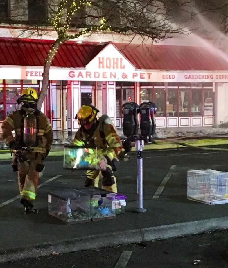 Fire crews were able to save some small animals from inside the feed store. It was immediately unclear if others were trapped inside, according to The Bellingham Herald. Photo: Courtesy Bellingham Police