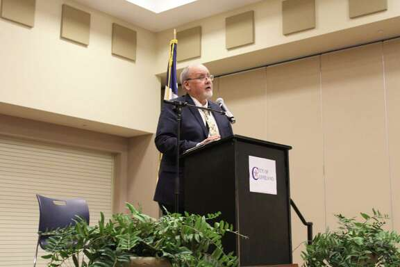 Cleveland Mayor Otis Cohn addresses the Cleveland community at the state of the city address on Feb. 12 at the Cleveland Civic Center.