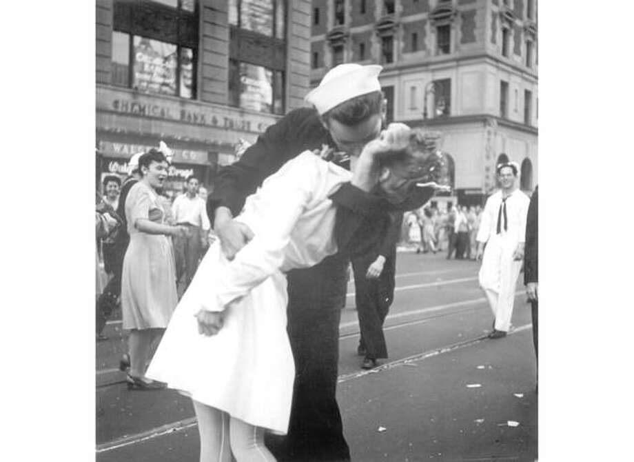 The ecstatic sailor shown kissing a woman in Times Square celebrating the end of World War II has died. George Mendonsa was 95. It was years after the photo was taken that Mendonsa and Greta Zimmer Friedman, a dental assistant in a nurse's uniform, were confirmed to be the couple. Victor Jorgensen | U.S. Navy