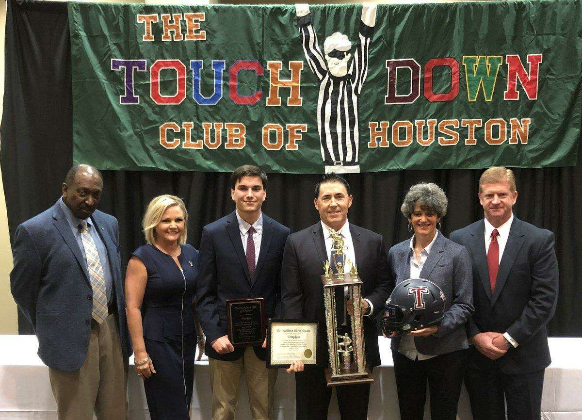 The Tompkins football team earned second place in Class 6A at the Touchdown Club of Houston's sportsmanship luncheon Jan. 30 at the Bayou City Event Center. The Falcons and Paetow, in Class 5A, represented Katy ISD among the finalists.