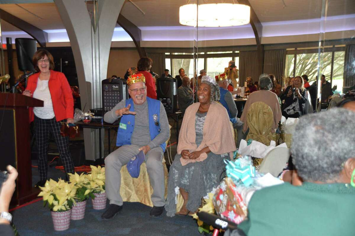 Senior Companions Director, Sandra Smolensky, recognizes volunteers at their annual awards luncheon.