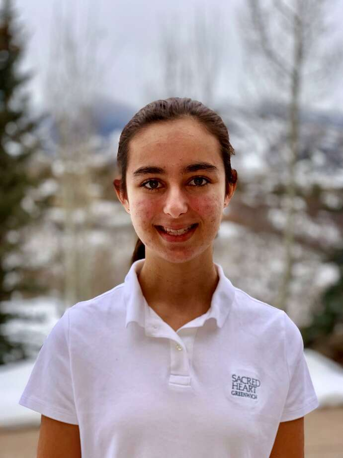 Josephine Orr, an eighth grader at Sacred HEart Greenwich, was one of six middle school writers to receive a prize of $50 from The Village Bookstore of Pleasantville, NY. Photo: Contributed