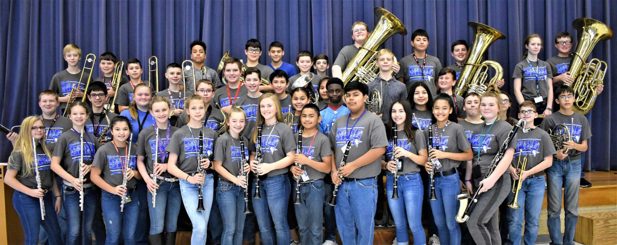 Needville Junior High band students honored