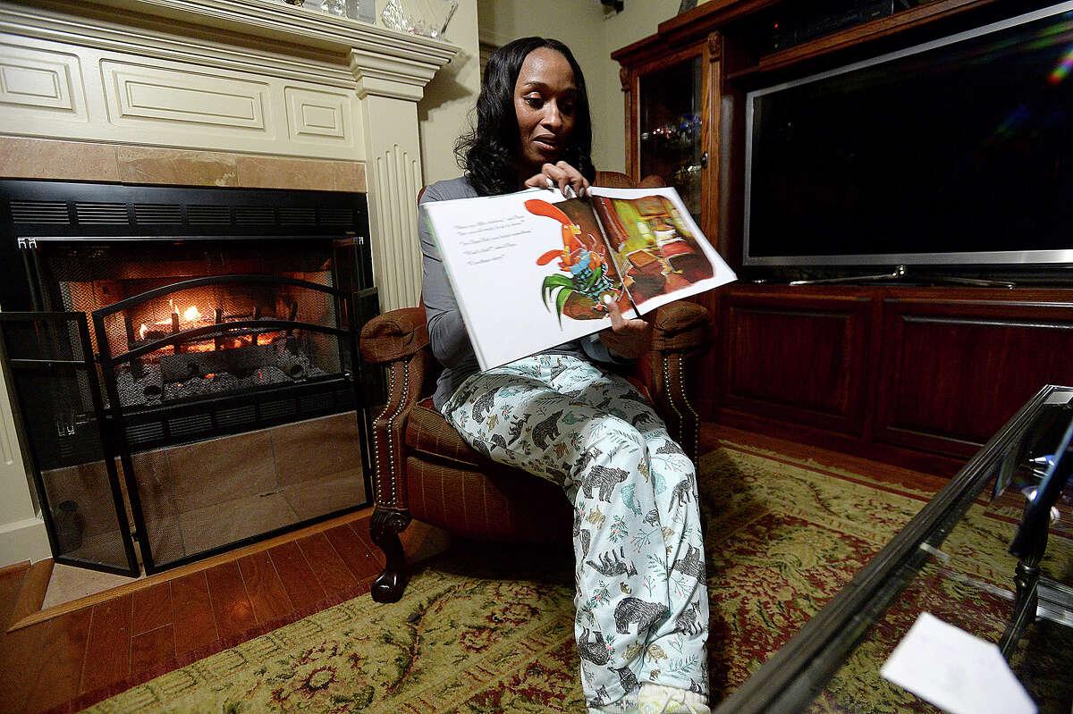 Homer Elementary School Principal Dr. Belinda George reads from the award winning children's book