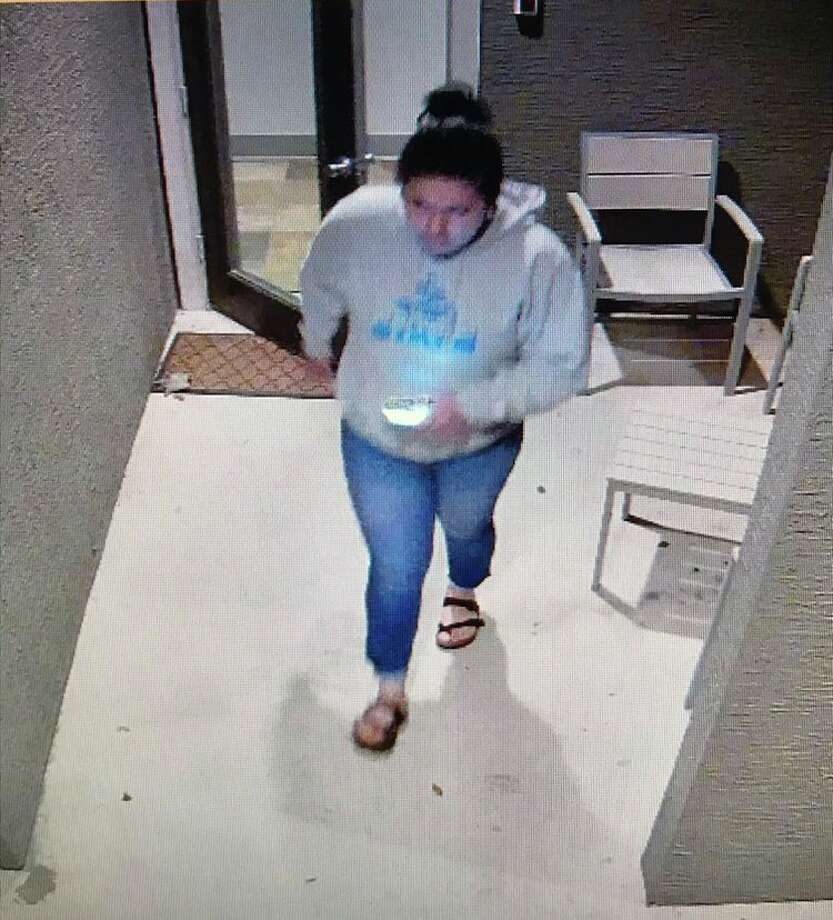 The San Antonio Police Department is asking for the public's help in identifying a woman who may be a person of interest in a North Side slaying on Sunday. Photo: San Antonio Police Department