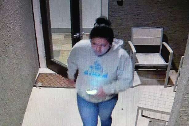 The San Antonio Police Department is asking for the public's help in identifying a woman who may be a person of interest in a North Side slaying on Sunday.