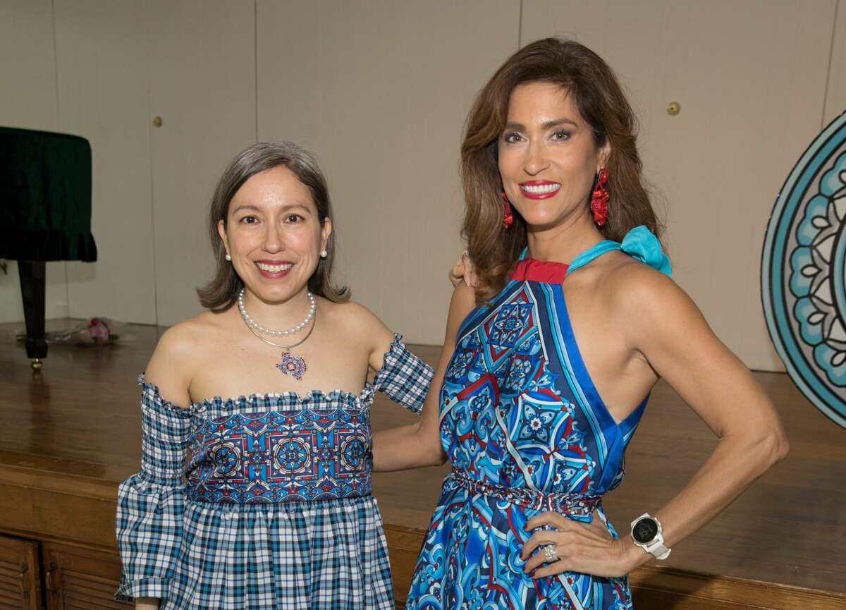 SAN ANTONIO, TEXAS - FEBRUARY 16: Designer Marisol Deluna (L) and Sarah Lucero attend the Marisol Deluna Foundation Community Fashion Show at the San Antonio Garden Center on February 16, 2019 in San Antonio, Texas. (Photo by Rick Kern/Getty Images for Marisol Deluna Foundation)
