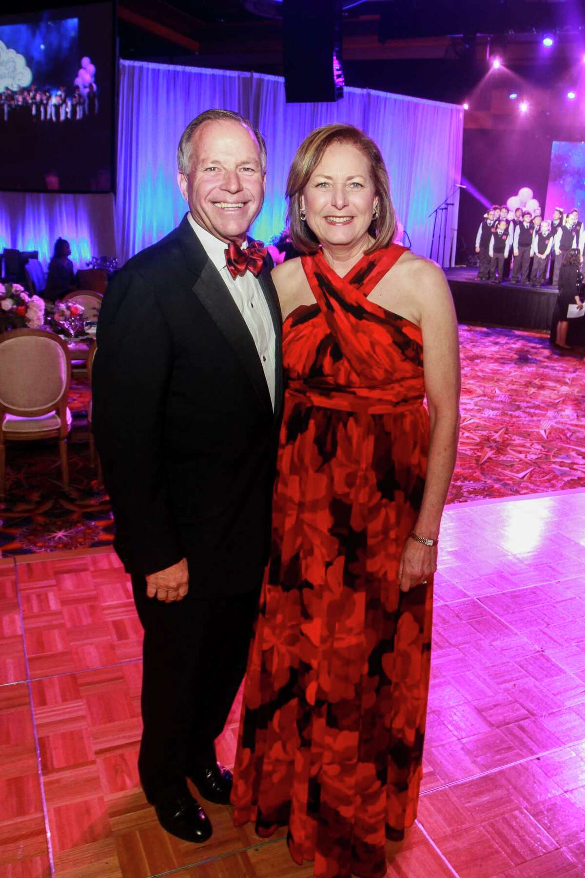 Chairs Jack and Debbie Moore at the Heart Ball at Hilton Americas Houston.