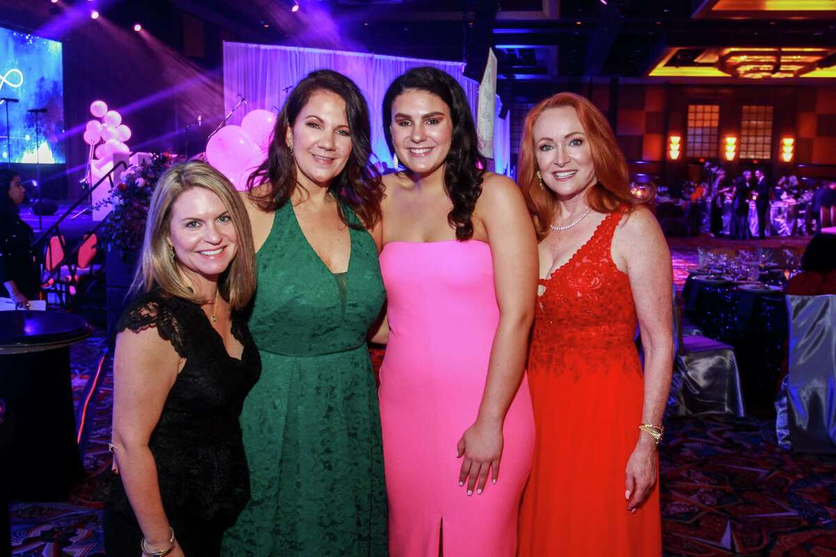 Holly Veech, from left, Cindy Prator, Maddie Prator and Sherilyn Steele at the Heart Ball at Hilton Americas Houston.