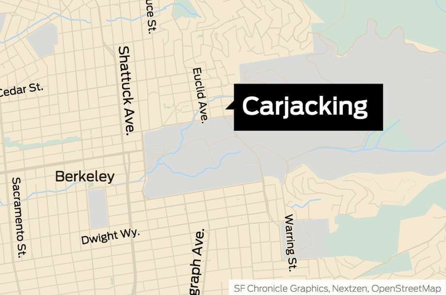 A food delivery driver was carjacked at gunpoint Sunday night, Feb. 17, 2019 near UC Berkeley campus. Photo: SF Chronicle Graphics