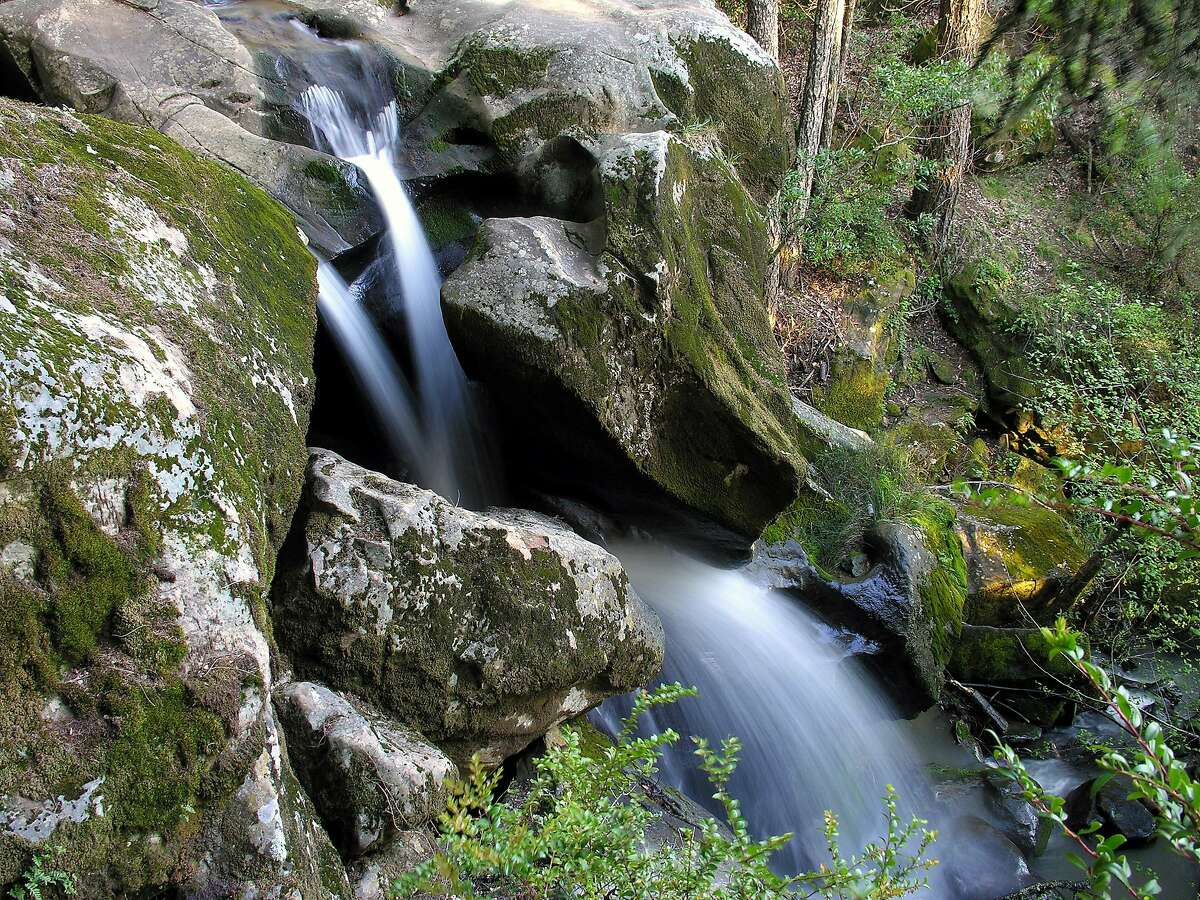 Hidden waterfall on Peters Creek at Long Ridge Open Space Preserve.