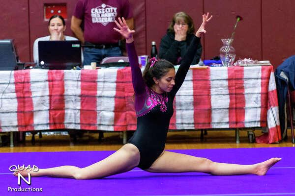 Kaitlin Gunsell of Quad N Productions for the Tribune. Prints available at www.misportsphotos.com Cass City vs. Vassar Gymnastics