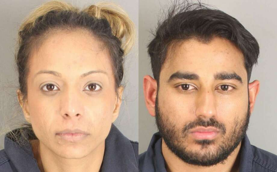 Osama Fayyaz, 29, and Naureen Nooralla Gheewalla-Fayyaz, 28, were arrested Houston police officers on Jan. 14 after they allegedly found the two in possession of at least 50 pounds of marijuana, according to court documents. Photo: Jefferson County Sheriff's Office