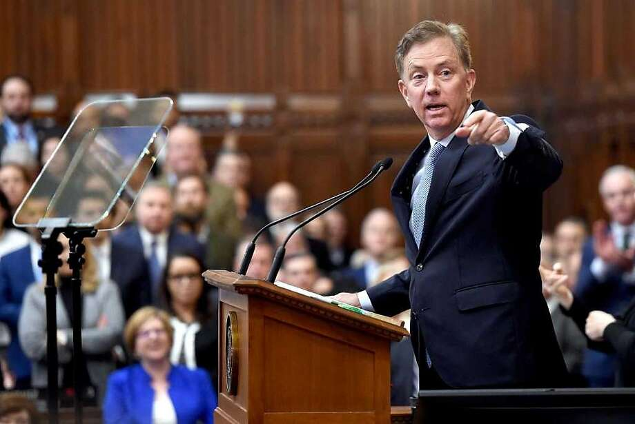 Gov. Ned Lamont offered clues to his first budget when he delivered the State of the State address. Photo: Arnold Gold / Hearst Connecticut Media