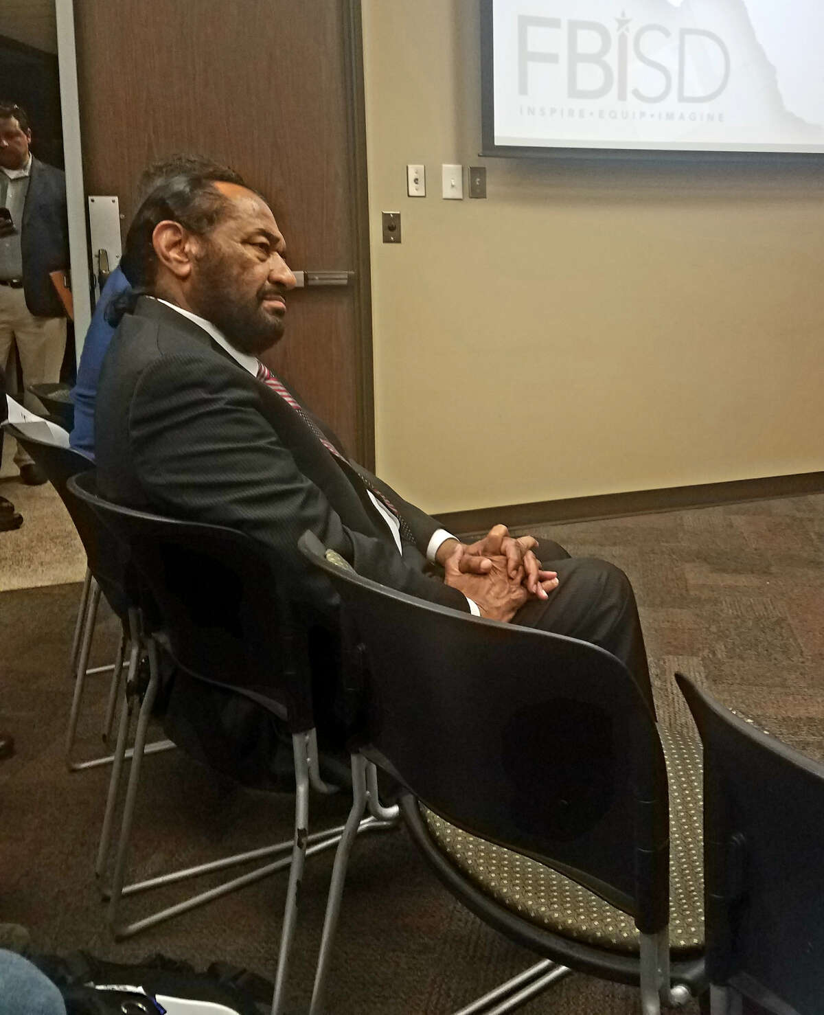 Congressman Al Green spoke during public comment at a school board meeting on Feb. 18 about the 95 African American remains found at a school district construction site.