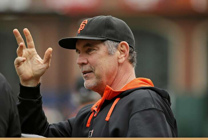San Francisco Giants manager Bruce Bochy before the start of their baseball game against the San Diego Padres Saturday, Sept. 12, 2015, in San Francisco. (AP Photo/Eric Risberg)