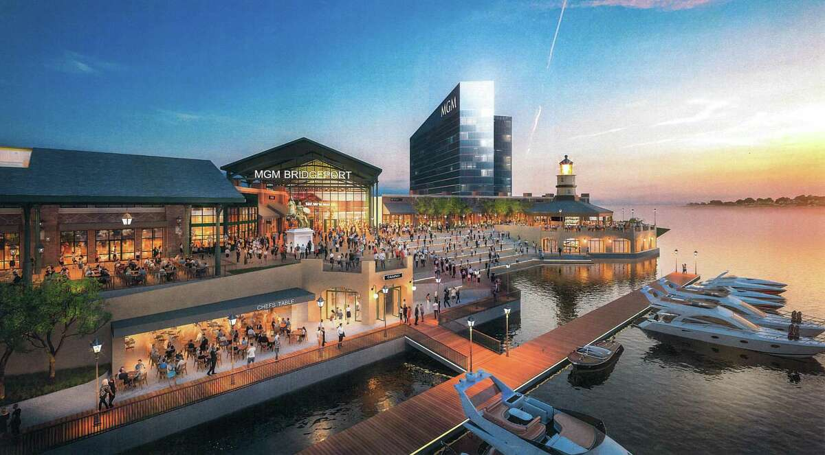 Conceptual rendering of MGM Bridgeport Resort Casino & Entertainment District. February - Connecticut gamble With the state's share of slot revenue from the Foxwoods and Mohegan Sun casinos dropping eight of the last nine years - including 6.2 percent in 2019, to $255 million - Gov. Ned Lamont and the Connecticut General Assembly again weighed an expansion of the state's gaming landscape, to include possible new casinos for East Windsor or Bridgeport, gambling apps and the addition of sports books. With Foxwoods and Mohegan Sun still reeling in December from the pandemic's effect on tourism, the casinos tabled plans for a new casino in East Windsor to compete against the MGM Springfield across the Massachusetts border.