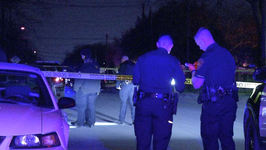 Authorities responded to the shooting at about 10:25 p.m. in the 200 block of Verne Street. Photo: Ken Branca