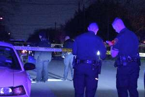 Authorities responded to the shooting at about 10:25 p.m. in the 200 block of Verne Street.
