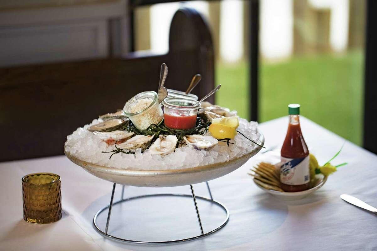 Gulf oyster platter at La Lucha