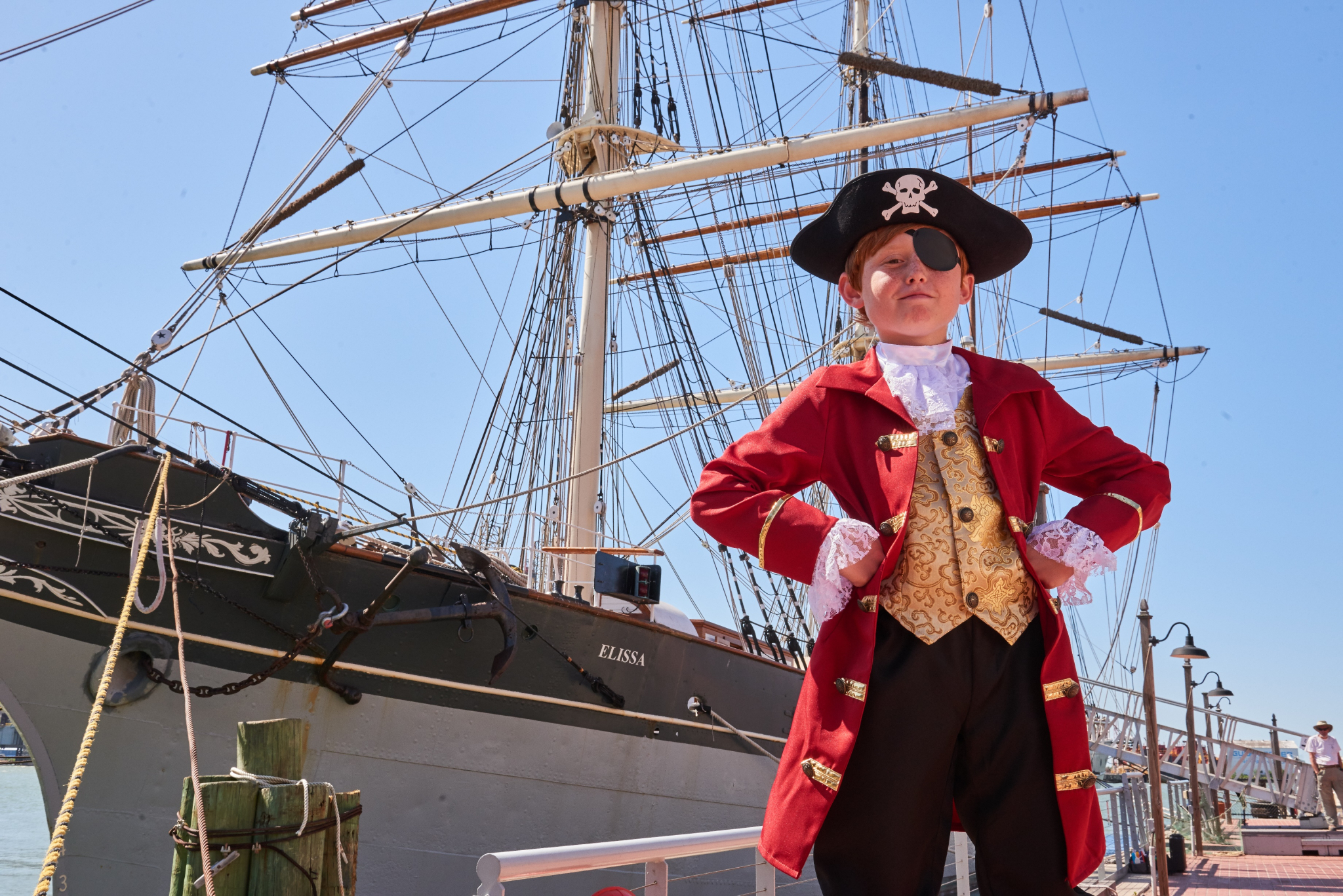 The 1877 Tall Ship ELISSA is celebrating its 143rd birthday, and you're invited to attend