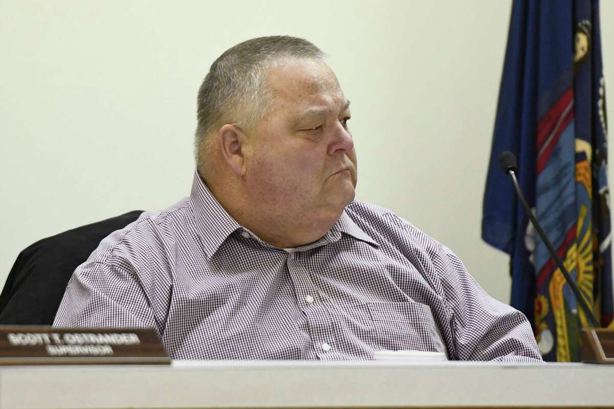 Councilman John Frolish is the deputy supervisor and a close ally to Supervisor Scott Ostrander. Frolish sits in a Milton town meeting held at the town hall on Wednesday, Jan. 30, 2019 in Milton, N.Y. (Jenn March, Special to the Times Union)