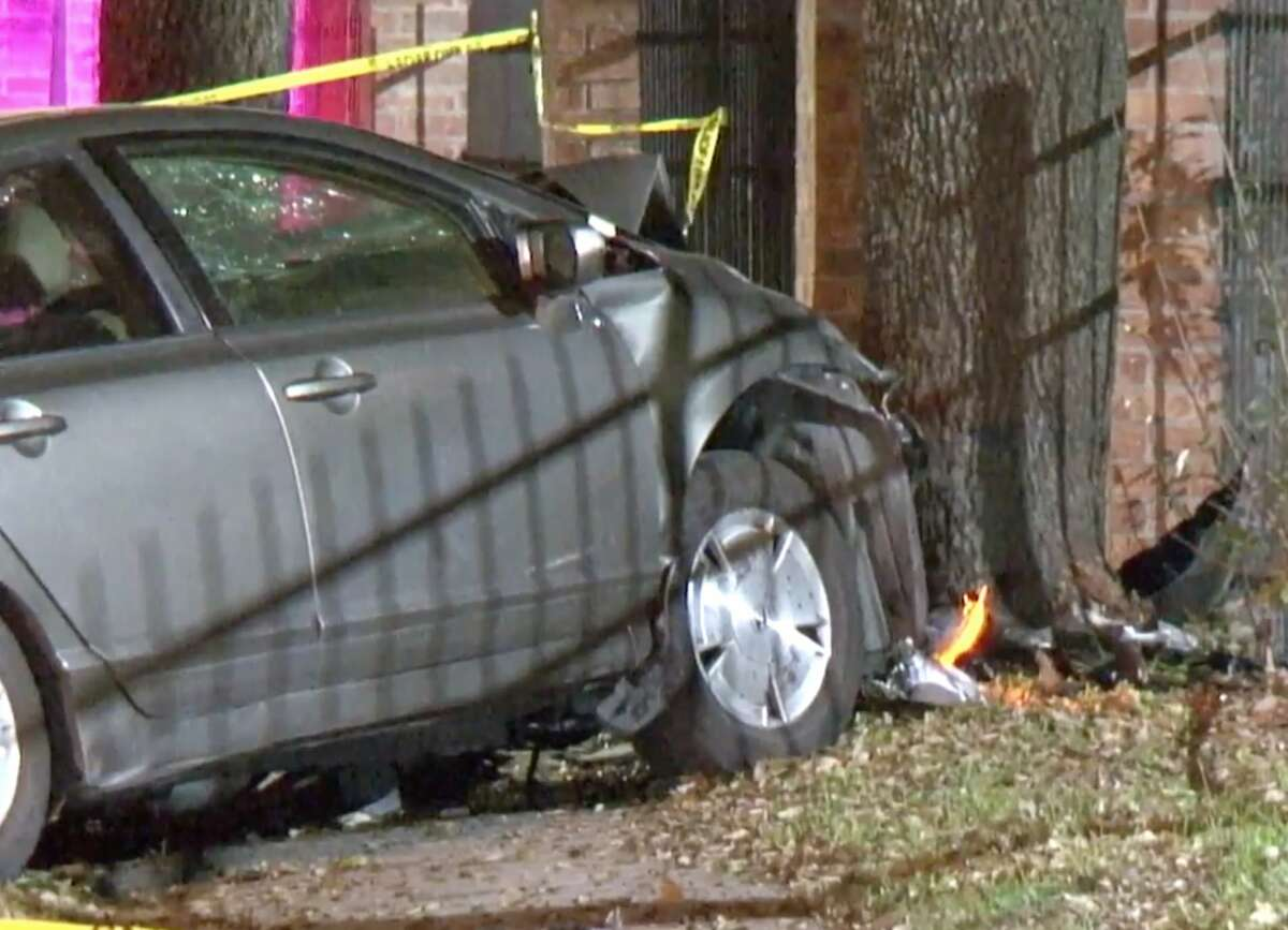 The driver of a gray Honda Civic was northbound in the 1300 block of Northborough Drive around 3:20 a.m.