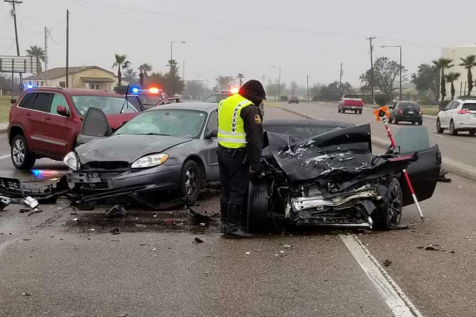 A head-on collision was reported Tuesday morning near the Laredo International Airport. Authorities said a man in his 20s was transported in critical condition to Laredo Medical Center.