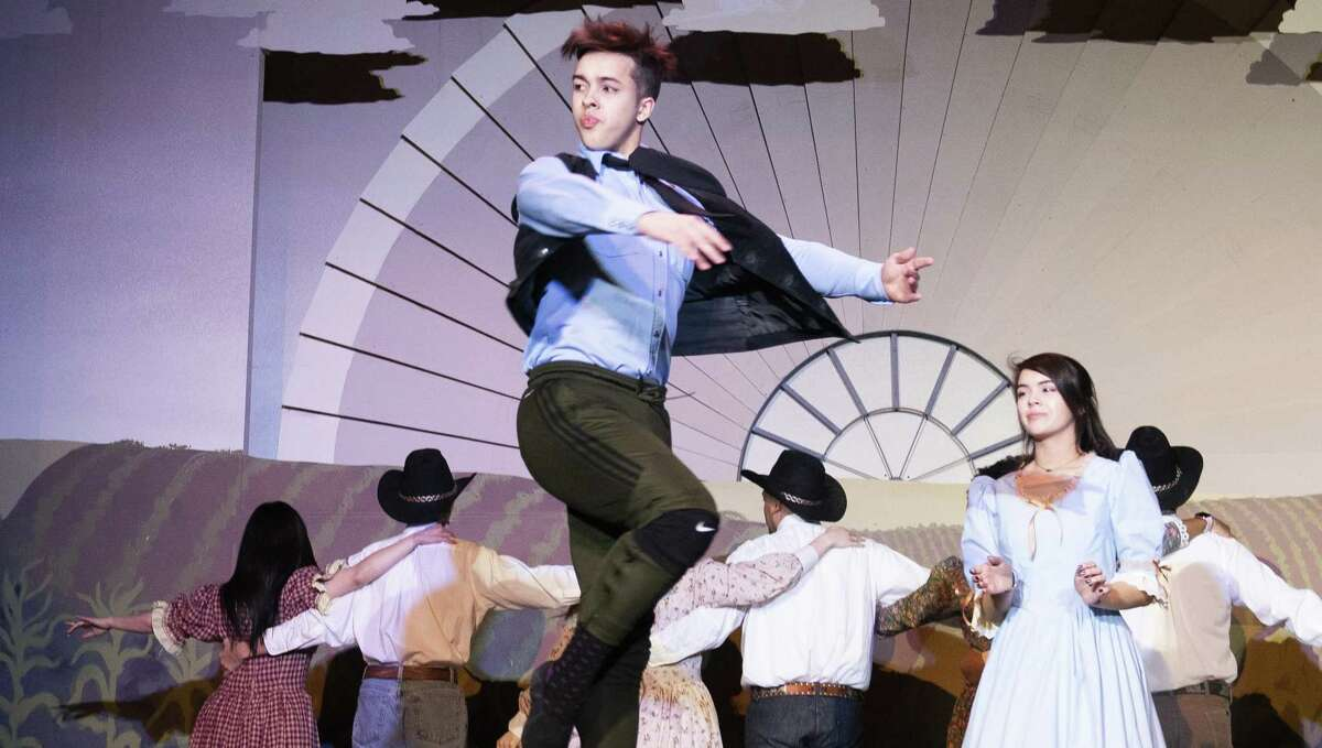 Jeremy Rohm, an apprentice with Ballet San Antonio, plays Dream Curly in the Woodlawn Theatre's production of