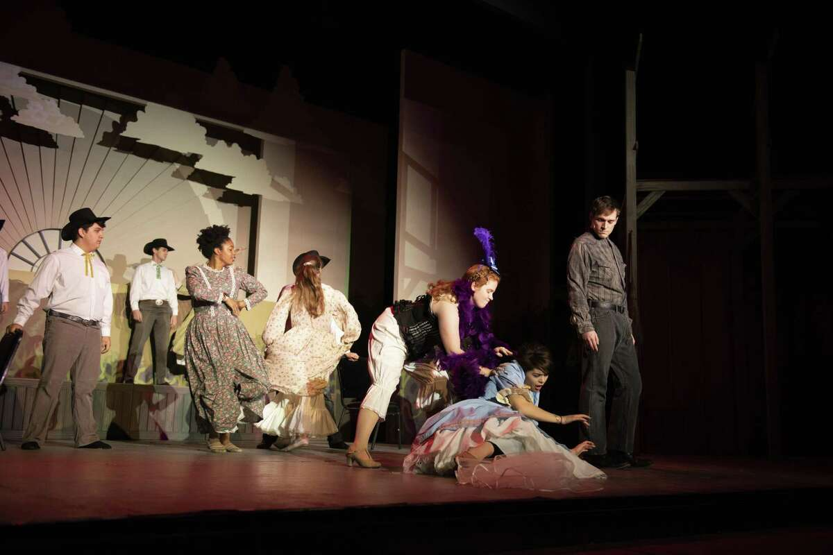 The cast of the Woodlawn Theatre staging of