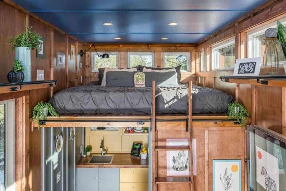 The Cornelia Tiny House – New Frontier Tiny Homes.Bedroom. Photo: StudioBuell