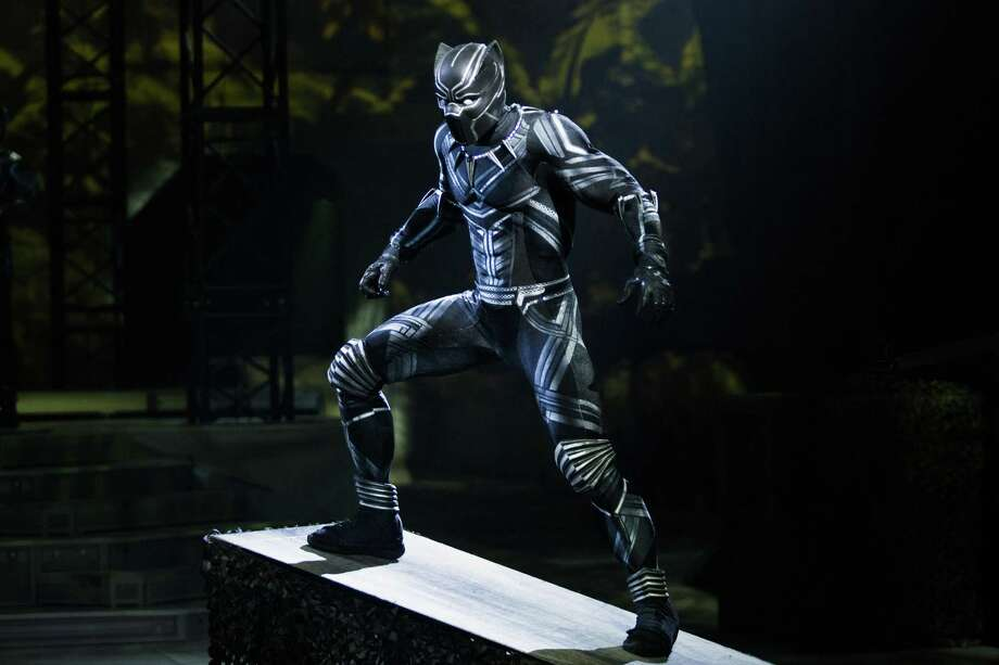 "William Irizarry portrays Black Panther when ""Marvel Universe Live!"" comes to Webster Bank Arena in Bridgeport, March 1-3. Photo: Jeff Kavanaugh / Contributed Photo / jeff@jeffkavanaugh.com         917-414-4545"
