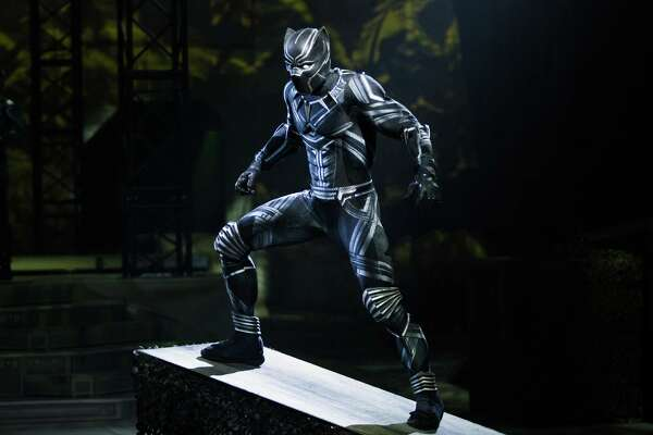 "William Irizarry portrays Black Panther when ""Marvel Universe Live!"" comes to Webster Bank Arena in Bridgeport, March 1-3."