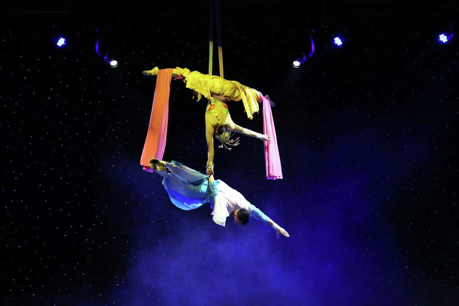 "Aerialists in ""Imagination Journey,"" which is at New Haven's Shubert Theatre March 1, and Torrington's Warner Theatre March 2. Photo: Shubert Theatre / Contributed Photo"