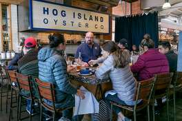 The Hog Island Oyster Company in the Oxbow Market in Napa, Calif. is seen on February 7th, 2019.