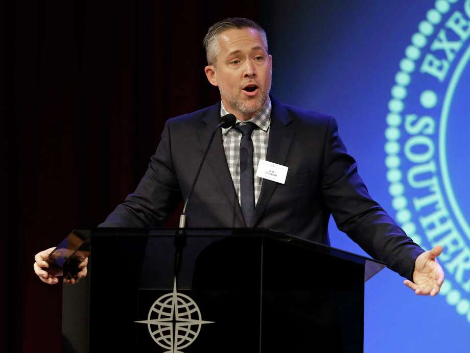 Southern Baptist Convention President J.D. Greear speaks to the denomination's executive committee Monday, Feb. 18, 2019, in Nashville, Tenn. Days after a newspaper investigation revealed hundreds of sexual abuse cases by Southern Baptist ministers and lay leaders over the past two decades, Greear spoke about plans to address the problem. (AP Photo/Mark Humphrey) Photo: Mark Humphrey, Associated Press / Copyright 2019 The Associated Press. All rights reserved