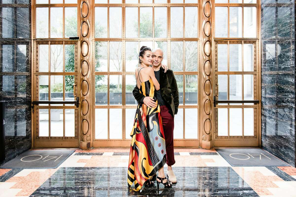 San Francisco Ballet principal dancer Mathilde Froustey, left, and Michelin-starred chef Mourad Lahlou, who are engaged to be married, pose for a portrait in San Francisco, Calif., on Monday, February 4, 2019.