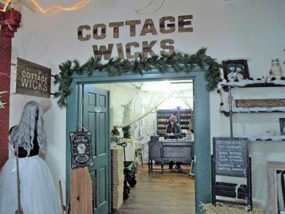 Cottage Wicks offers a variety of uniquely scented candles and quirky gift items.