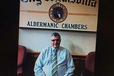 Frank DeLibero following his appointment as an Ansonia alderman in June, 2015 to complete the unexpired term of Daniel Evans, who moved from the city..