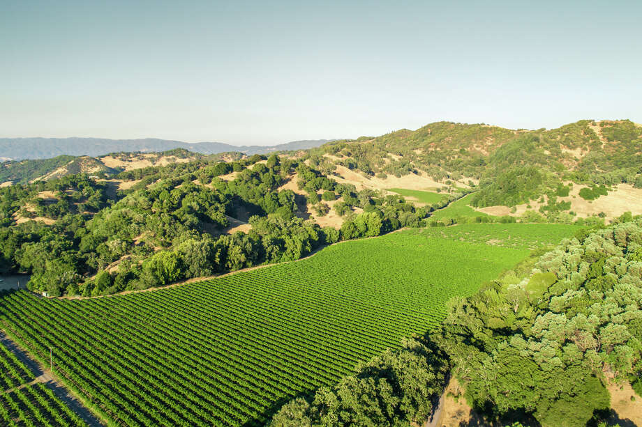 Cole Ranch, America's smallest wine appellation in the hills behind Ukiah, Calif., spreads across 150 acres and is listed for $3.3 million. Photo: California Outdoor Properties / Drone Cowboys