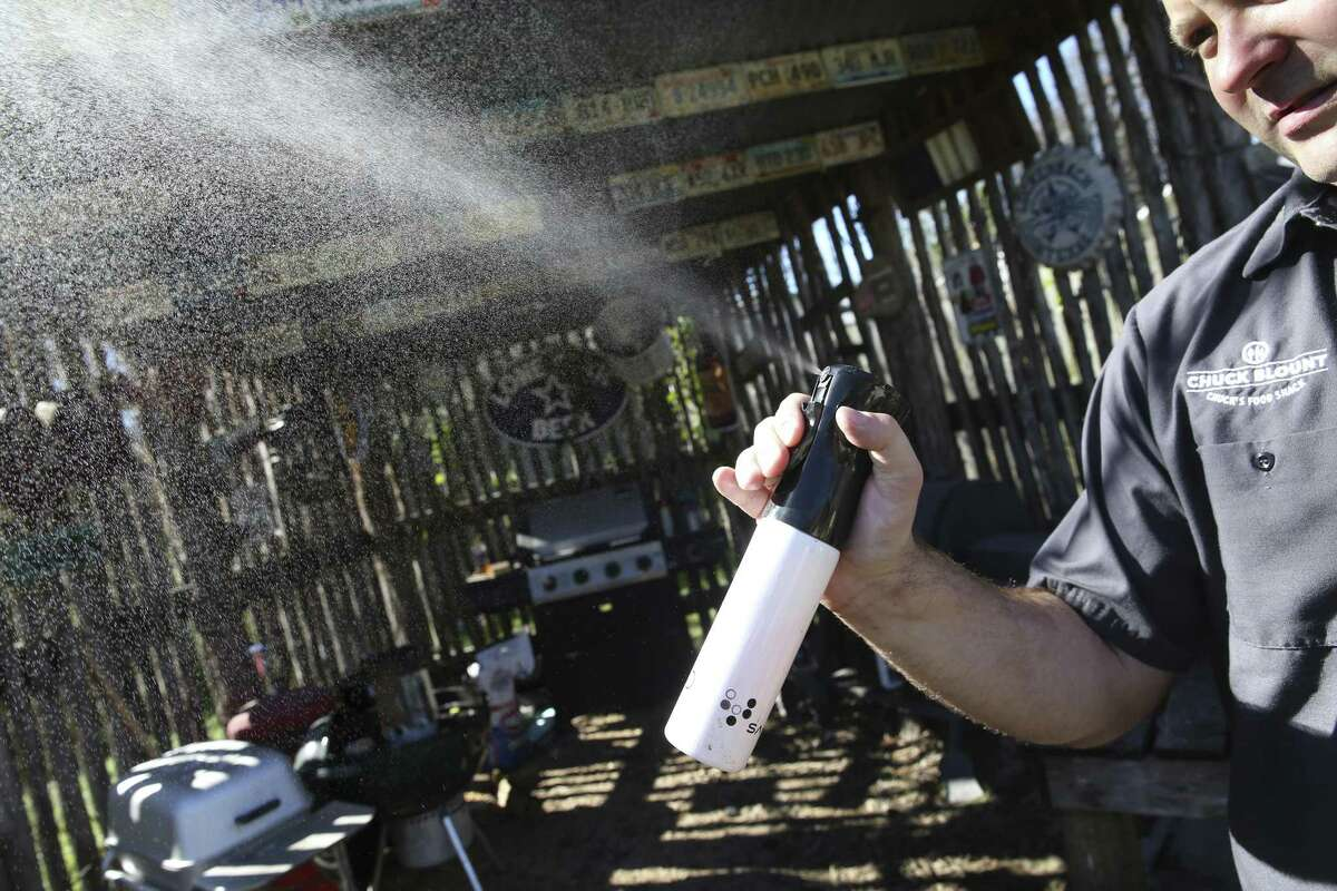 Instead of using a traditional cheap spray bottle for spritzing barbecue, upgrade with a salon-grade device that sprays a finer mist that doesn't require as much hand motion.