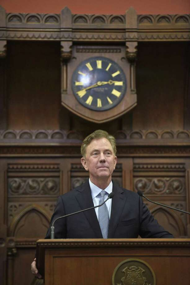 Governor Ned Lamont pauses as he delivers his State of the State address in the House chamber on Wednesday, January 9, 2019, in Hartford, Conn. Photo: H John Voorhees III / Hearst Connecticut Media / The News-Times