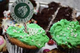 Colorful chocolate cupcakes and other sweet treats were among the offerings at the annual event.