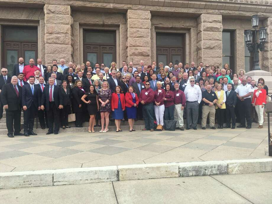 Businesses from the Montgomery County Council of Chambers are invited to take part in this year's Montgomery County Day at the Capitol in Austin from Feb. 25-26. This photo shows the group from the event two years ago. Photo: Courtesy Photo / Courtesy Photo